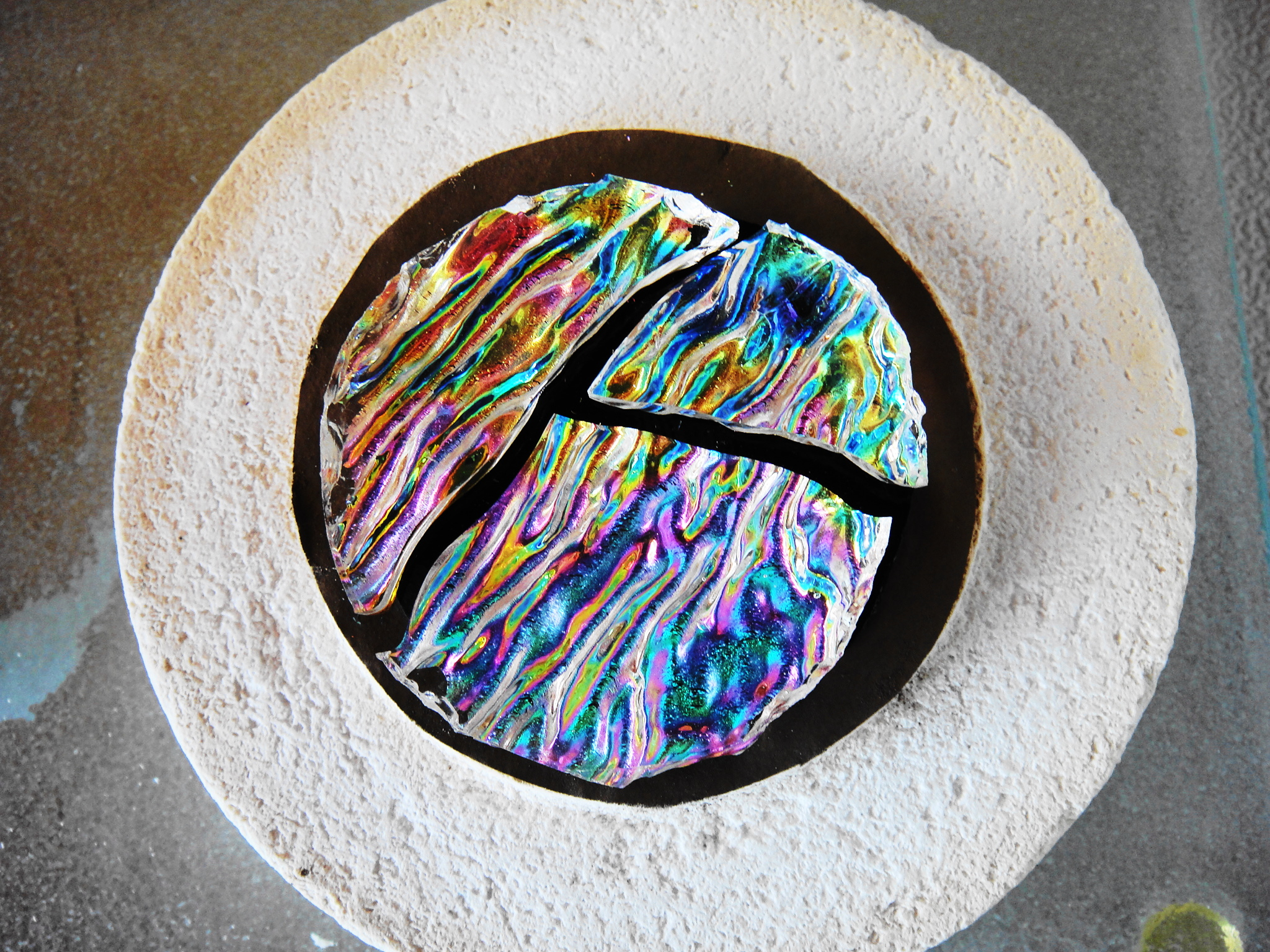 More Stuff That Happens When Making Dichroic Fused Glass