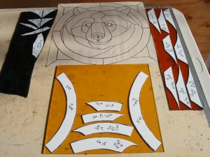 Creating stained glass windows for the cupolas of the new house!